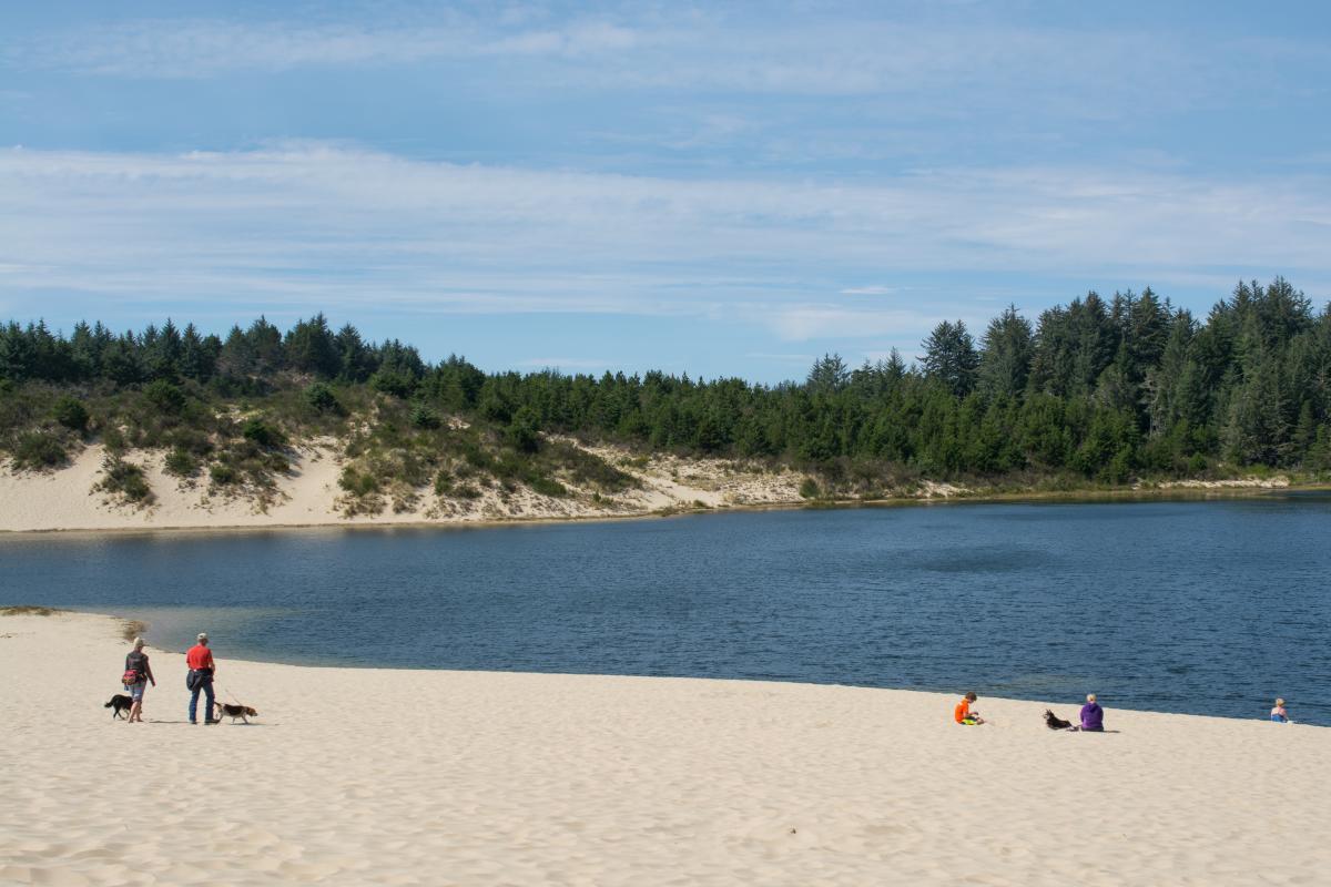 Cleawox Lake at Honeyman State Park