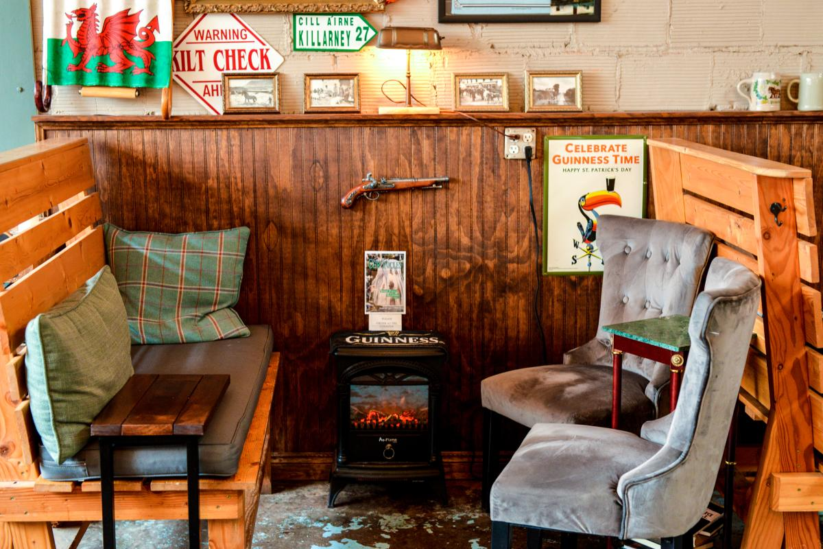 Cozy quarters at Coast Fork Brewing in Cottage Grove