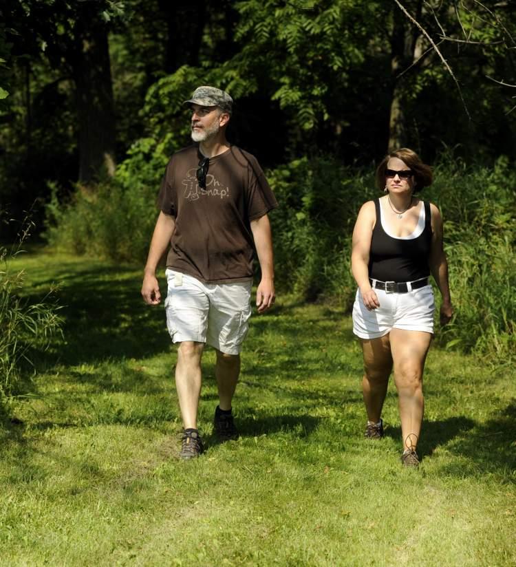 Couple Hiking at Pringle Nature Center