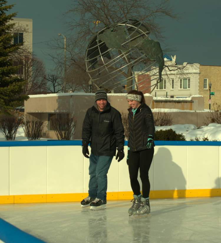 Ice Skating Downtown