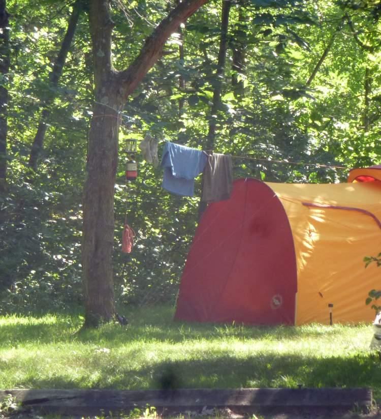 Camping at Richard Bong State Recreation Area