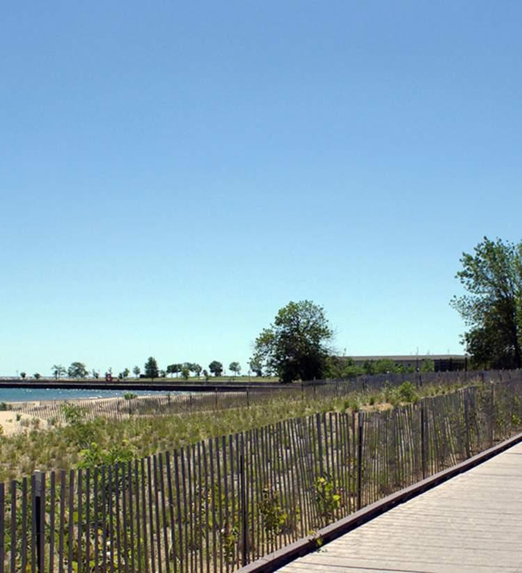 boardwalk at Simmons Island Beach