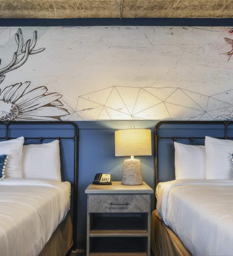 Stella - Double Room with Elk mural