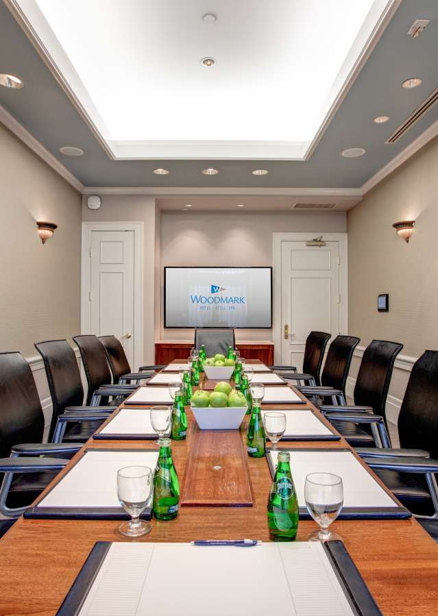 Meeting Room at the Woodmark Hotel
