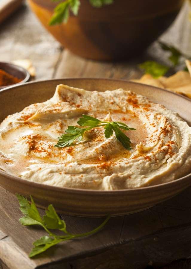 Mediterranean food - hummus