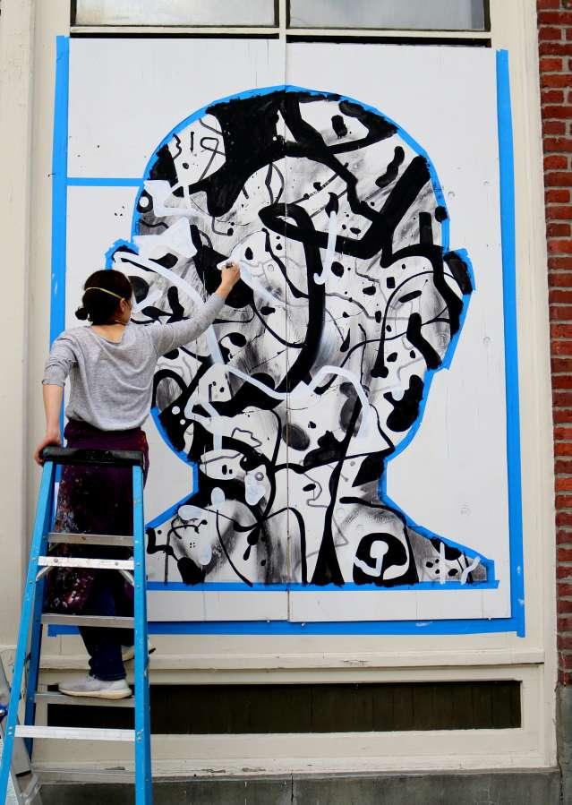 Painting mural public art
