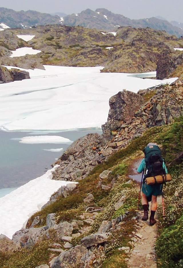 Crater Lake Hiker