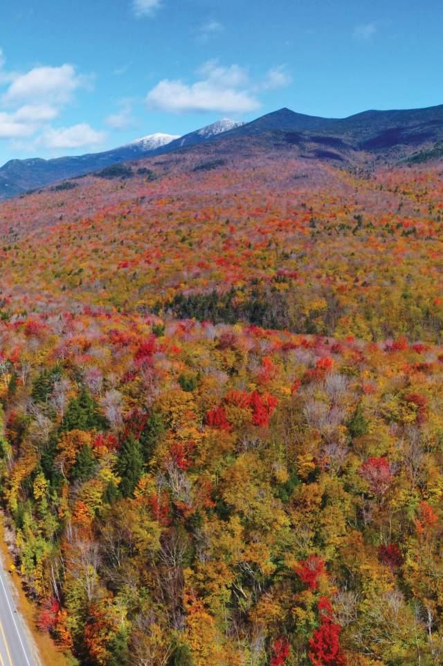 Franconia Notch in Fall