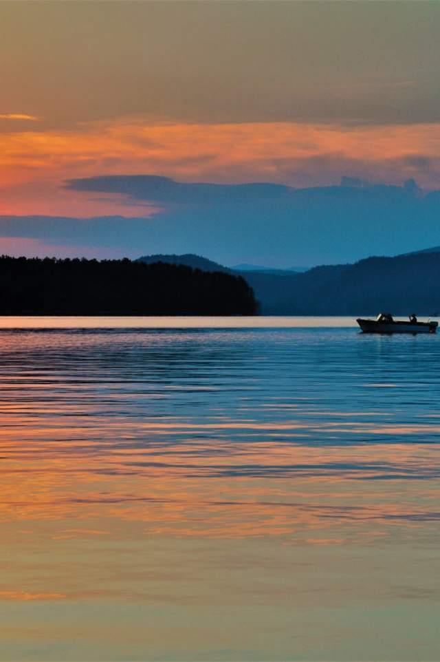 Sunset Lake Boating