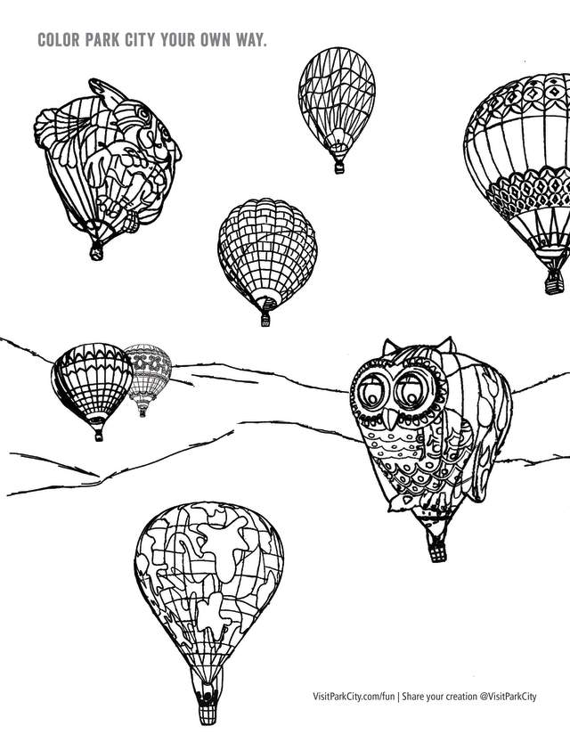 Preview of Autumn Aloft Coloring Page