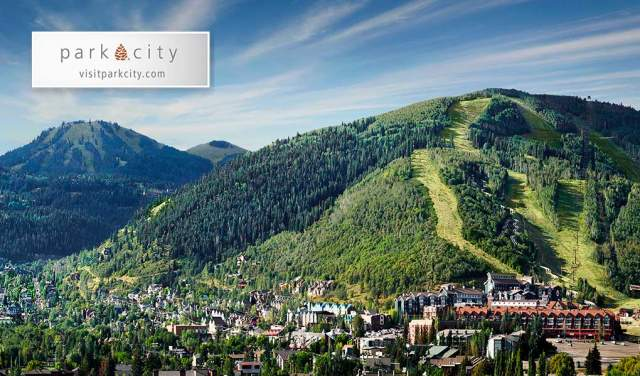 Scenic view of Old Town Park City in the Summer