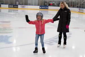 Ice Skating with Family at Park City Ice Rink