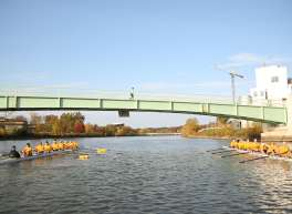 Rowing on Iowa River