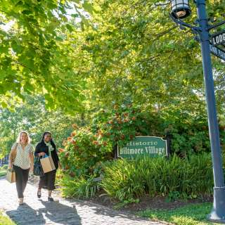 Biltmore Village in Asheville, NC is known as a shopping destination.