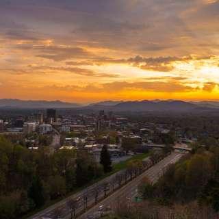 Asheville Sunset Skyline