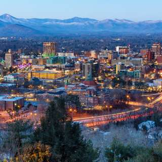 Asheville at Dusk