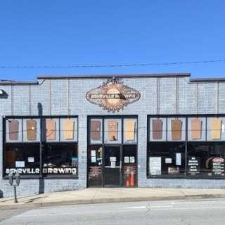 Building Facade of Asheville Brewing Company on Coxe Ave.