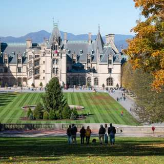 Fall color and the holidays collide at Biltmore in Asheville, NC