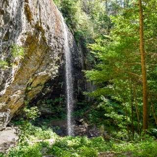 Douglas Falls in Big Ivy in Barnardsville