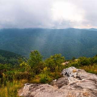 A stormy day at Sam Knob near Asheville, NC