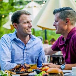 LGBTQ Couple at Smokey Park Supper Club