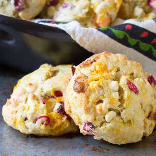 Cranberry Roasted Sweet Potato Scones #Recipe | ExploreAsheville.com