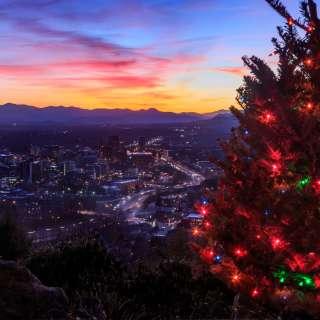 Asheville Skyline at Holidays
