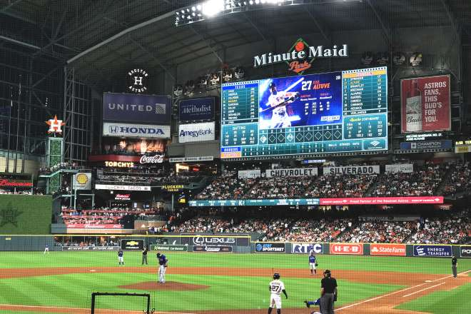Minute Maid Park During an Astros Game