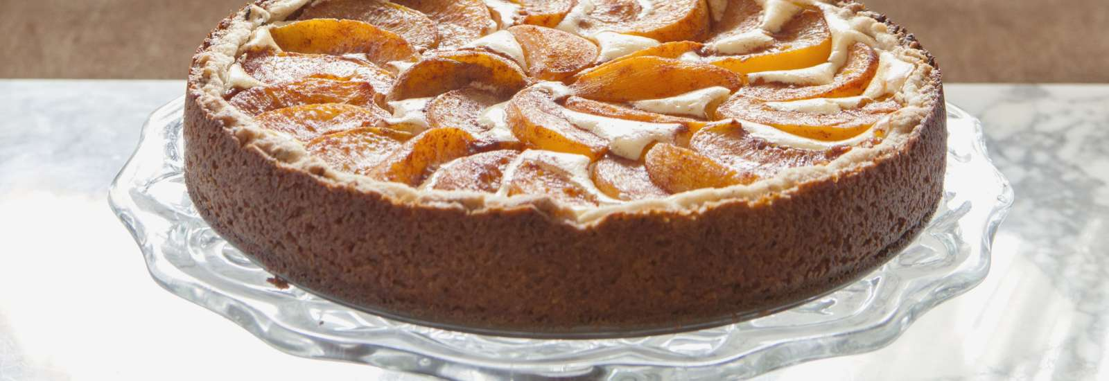 Peach Bavarian Torte #Recipe | ExploreAsheville.com