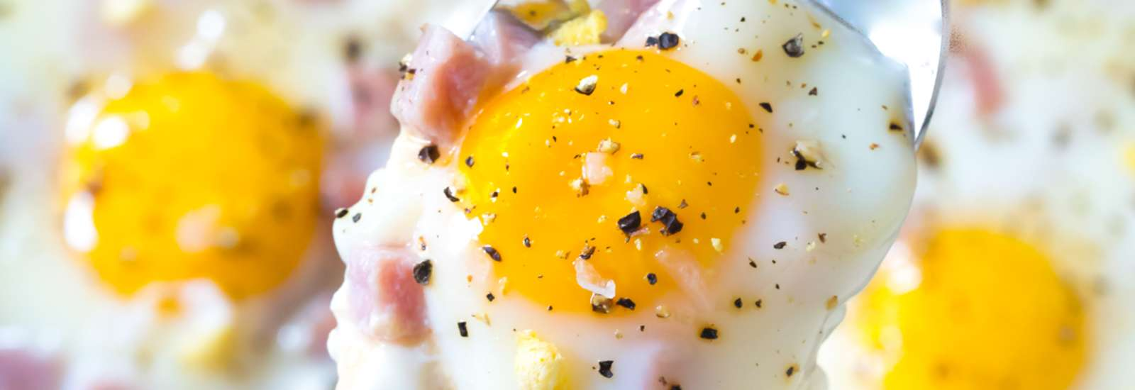 Baked Eggs with Country Ham #Recipe | ExploreAsheville.com