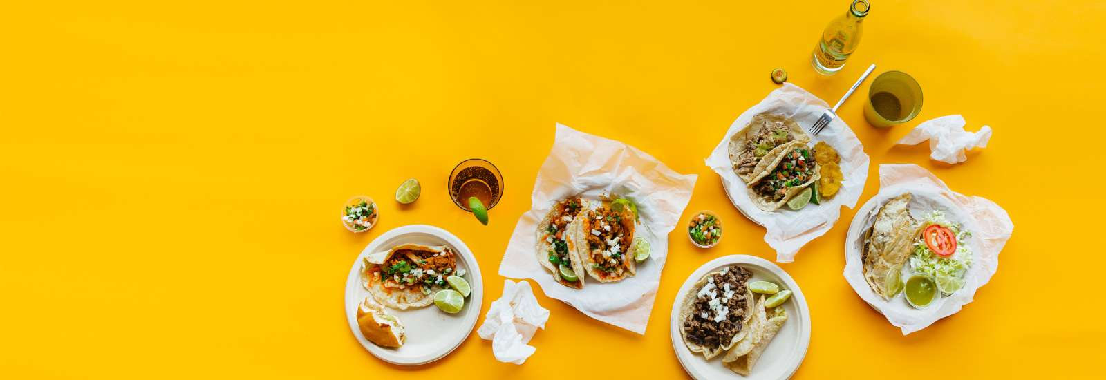 Taco Plates on a yellow background
