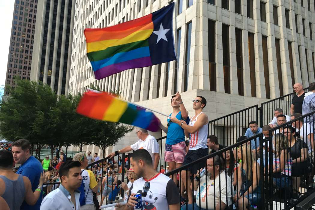 Thousands lined the streets for the Pride Parade