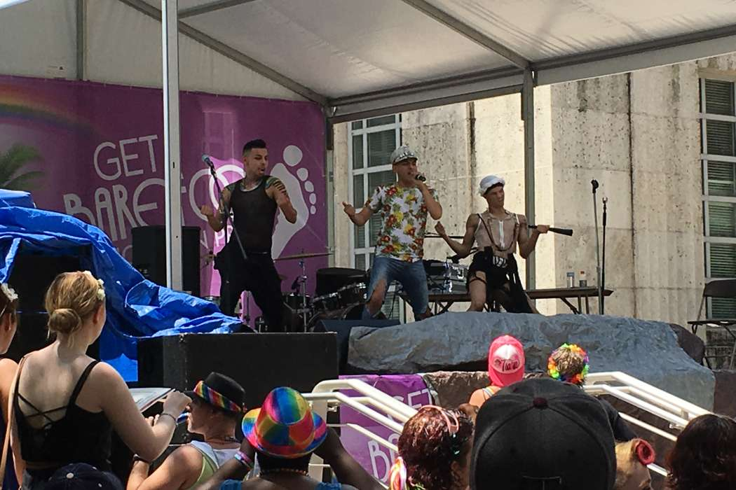 The Pride Festival included local and national music acts