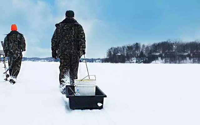 Winter Fishing in Traverse City, Michigan   Ice Fishing