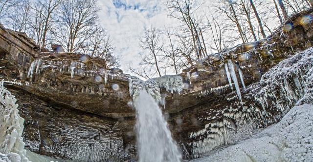 Carpenter Falls in the Winter