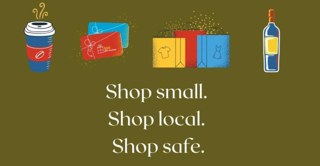 Shop small shop local shop safe