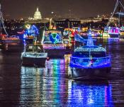 20th Anniversary Alexandria Holiday Boat Parade of Lights on December 7, 2019
