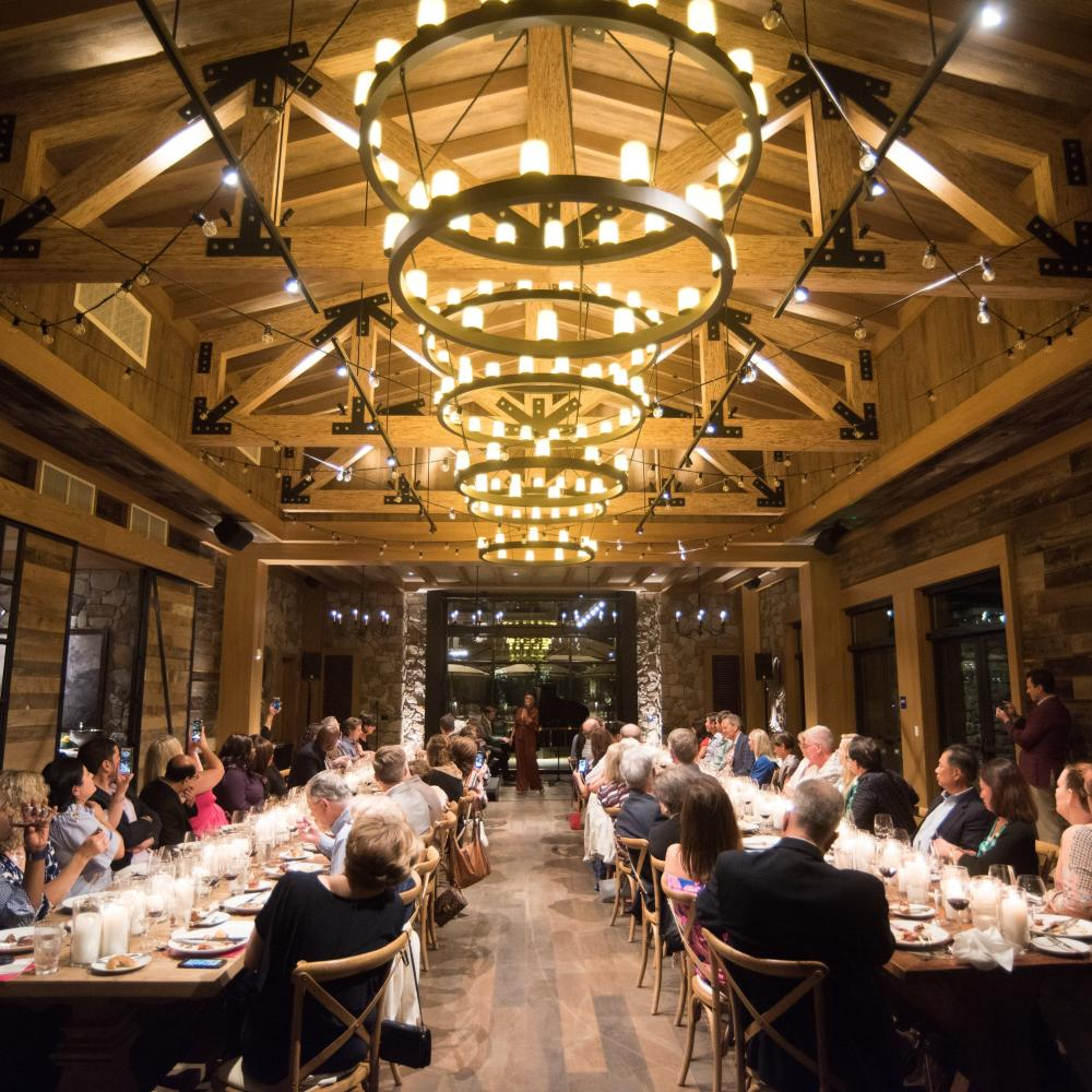 Group event at Vista Collina in Napa Valley