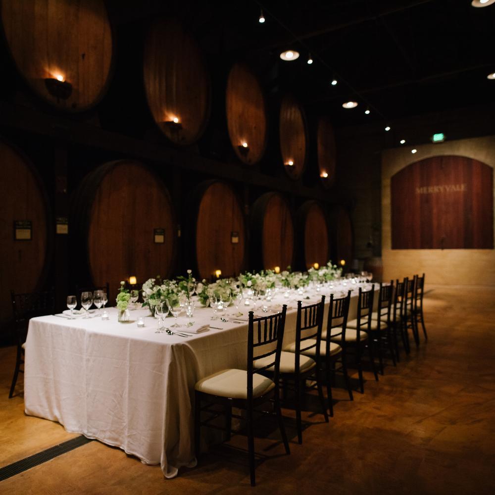 Merryvale Vineyards Cask Room Wedding