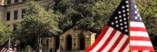 TAMU American Flags Academic Plaza