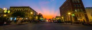 Downtown Bryan Sunset