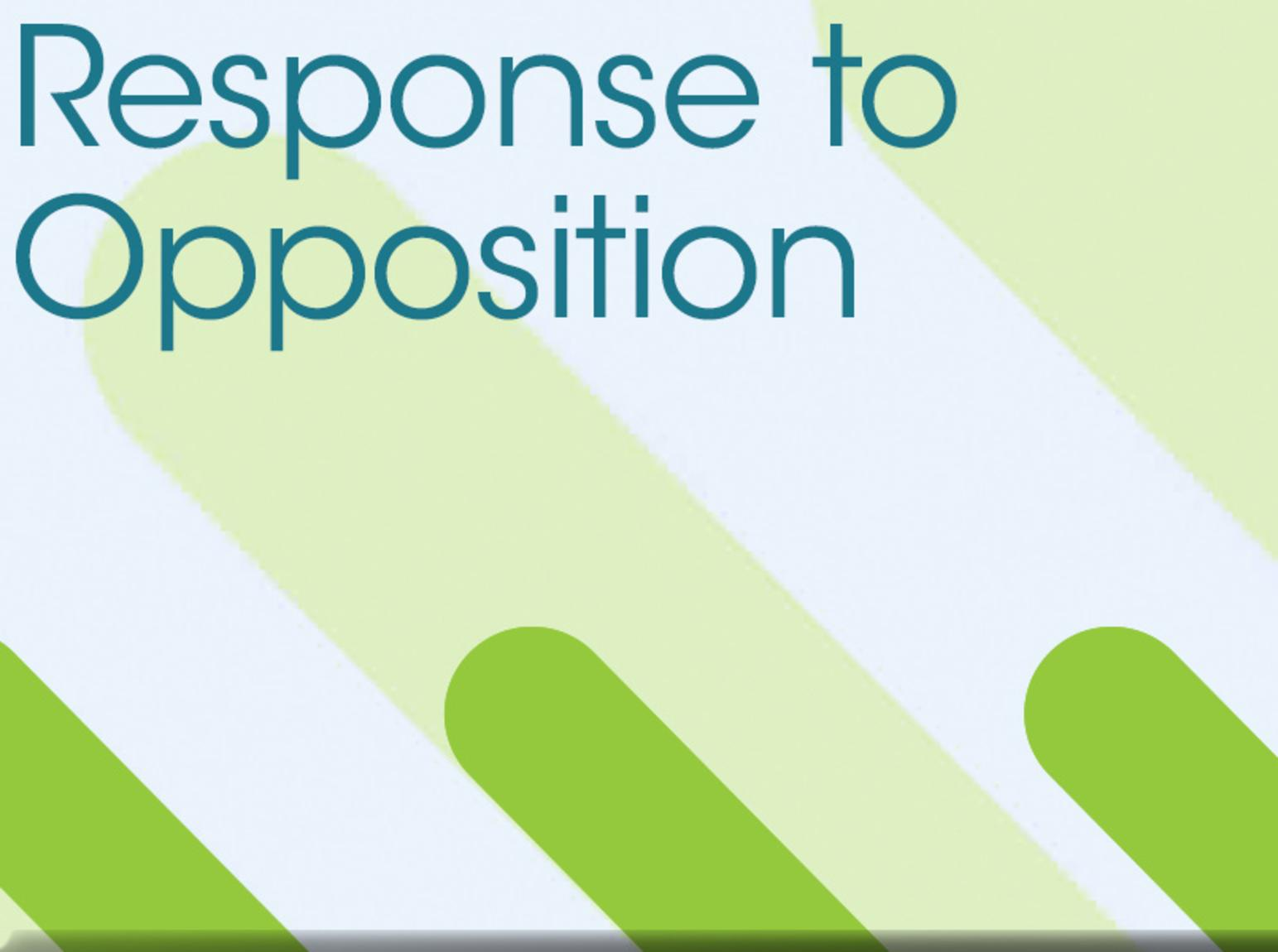 Response to Opposition