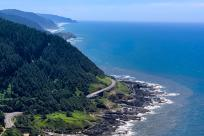 Cape Perpetua coastline view by Melanie Griffin