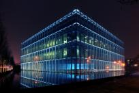 Jaqua Center at night by Curt Deatherage