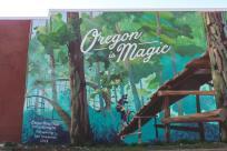 Travel Oregon Oakridge Oregon is Magic Mural by Natalie Inouye