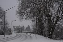 Snowy Road Between Eugene & Springfield by Colin Morton