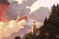 Heceta Head Lighthouse, Oregon Coast - Slightly Exaggerated