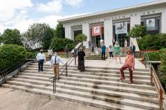 People On The Steps Of The Huntsville Museum of Art