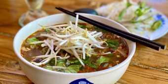 A bowl of pho at Hanoi 3 Seasons In Toronto, Ontario