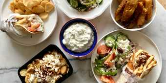 Greek food from Messini Authentic Gyros
